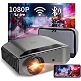 1080P Projector - Artlii Energon 2 Full HD WiFi Bluetooth Movie Projector Support 4K  7000L 300 inch Display  Compatible with HDMI  iPhone  Android for Home Theater  PPT Presentation