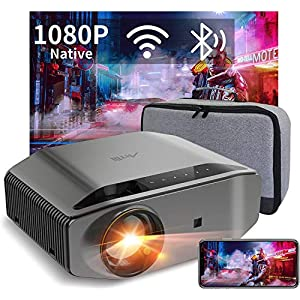 Artlii Energon 2 Wifi Bluetooth Projector Native 1080p Full HD Video Projector 8000 Lumen Support 4K 300″ Display 60% Zoom for PPT Presentation Android iOS Phone PC PS4 (Bag included)