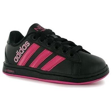 72f80c511ee adidas NEO DERBY LOGO LEATHER TRAINERS GIRLS UK CHILD SIZE 11 EU 29 NEW:  Amazon.co.uk: Shoes & Bags