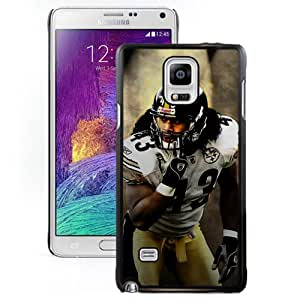 American Football Player Troy Polamalu Number-43 05 Black Abstract Samsung Galaxy Note 4 Phone Case
