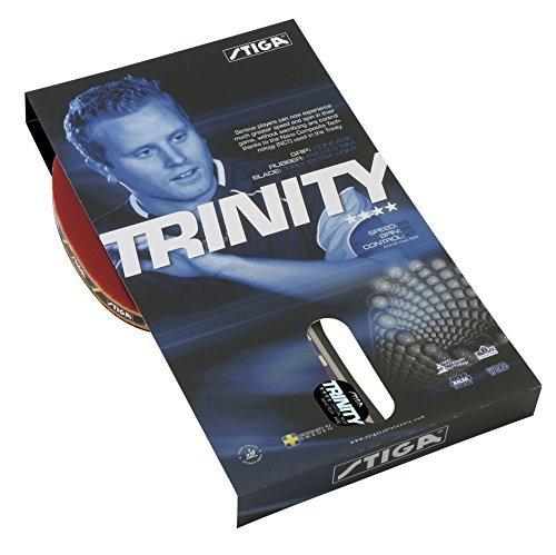 Stiga Trinity Table Tennis Bat - Red by Stiga by Stiga