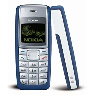 Nokia 1110i 4MB Classic (GSM only, No CDMA) Cell Phone (Blue) - International Version with No Warranty