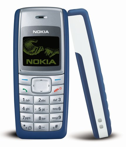 Nokia 1110i 4MB Classic Cell Phone (Blue) - International Version with No Warranty