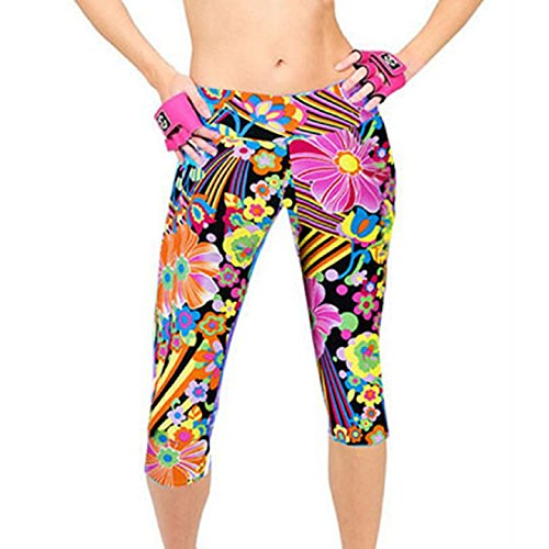 Ularmo Printed Fitness Stretch Cropped product image