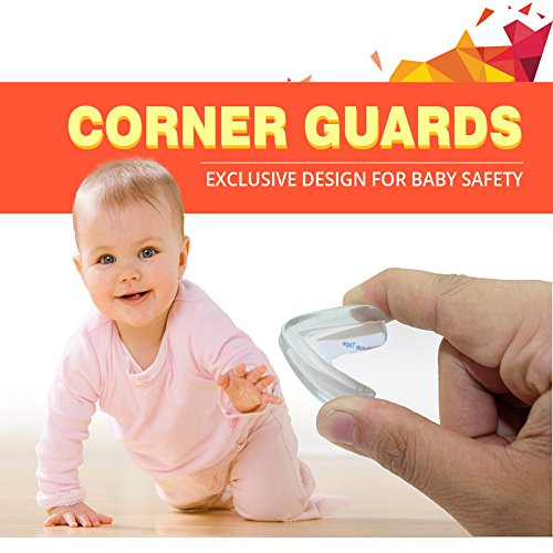 Upgraded Transparent Corner Guards for Baby Safety,Sticky Corner Protectors for Children Proofing Sharp Edge,Bumpers Protectors Against Sharp Furniture,Tables Corner Pre-Taped 3M Adhesive(L Shape) by Judeen (Image #2)