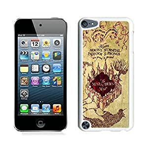 Elite Case for Apple ipod Touch 5,Harry Potter Marauders Map ipod touch 5 Case White Cover hjbrhga1544