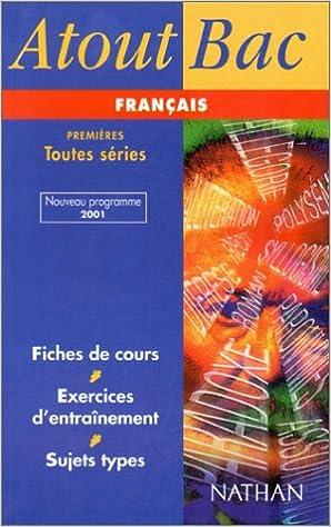 Atout bac français 1eres tome 1: Perier: 9782091823584: Amazon.com: Books