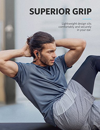 Soundcore Spirit Sports Earphones by Anker, with Wireless Bluetooth 5.0, 8-Hour Battery, IPX7 SweatGuard Technology, Secure Fit for Sport and Workouts, with Mic