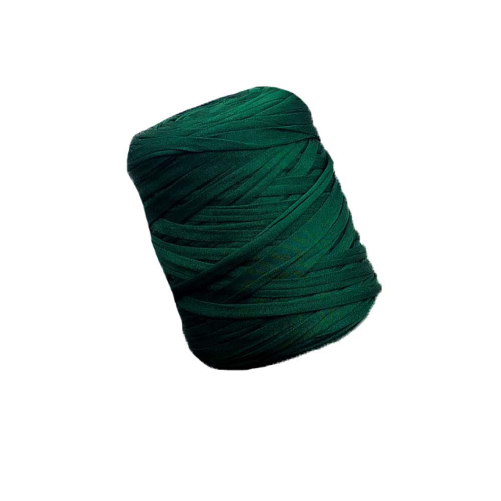 Green Cotton T-Shirt Yarn Spaghetti Yarn Crochet Bag Pillow Yarn Backpack Yarn Macaroni Yarn Carpet Rug Yarn Bulky Macrame Yarn 600g One Skein