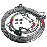Freedom Aerial Dog Runs 100 FT FADR-100/SD/HD Select Kit Strength Lead Line Length (Standard (Dogs up to 45 Pounds), 15 FT Lead Line Length)
