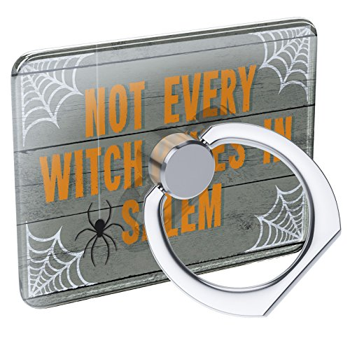 (Cell Phone Ring Holder Not Every Witch Lives in Salem Halloween Spider Webs Collapsible Grip & Stand)
