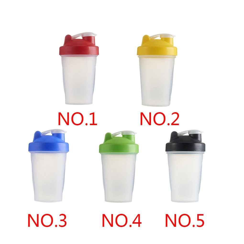 Floridivy 400ml Shake Gym Protein Shaker Mixer Drink Whisk Ball Portable Leakproof Sports Camping Shaker Water Bottles