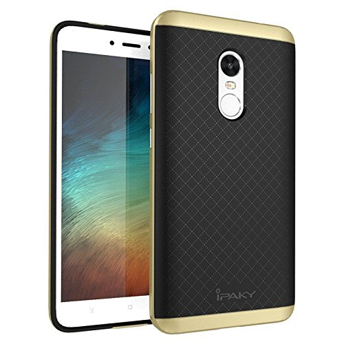 Tingtong Ipaky TPU+Pc Armor Protective Back Case Cover for Xiaomi Mi Redmi Note 4  Gold