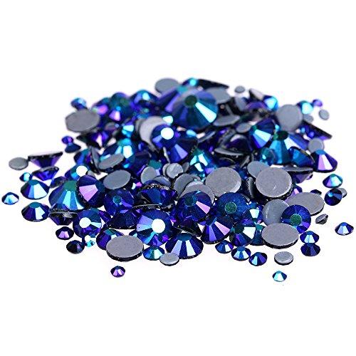 Strass Jet - Nizi Jewelry Jet AB Color Hotfix Rhinestones Strass Glass Gems 3D Nail Art Decorations (SS30 6MM 288PCS)