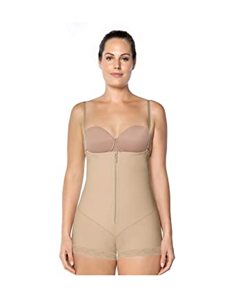 4ae9aa8a6 Leonisa Women s Latex Tummy Control Strapless Bodysuit Shaper at Amazon  Women s Clothing store