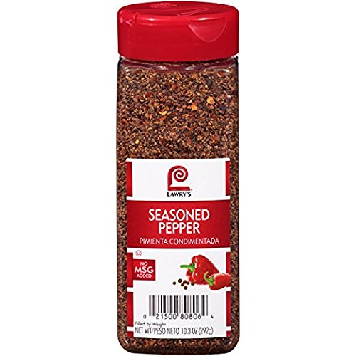Lawry's Seasoned Pepper, 20.6 oz (2 Bottles of 10.3 oz) Kosher Certified by OU by Lawry's