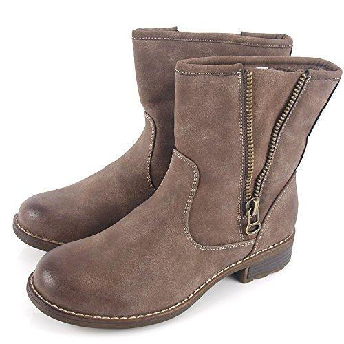 Botas de invierno, zapatos de mujer, modello 1307400112002133, negro y marrón, diferentes modelos y tamaños. Marrón modelo B.