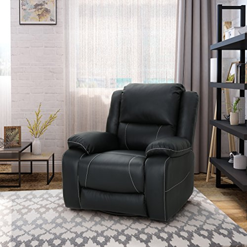 Christopher Knight Home 304568 Teresa Swivel Recliner, Black