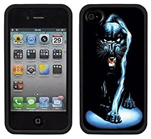 Black Panther Handmade for iphone 4 4S Black Case