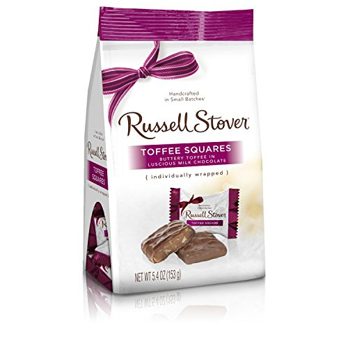 (Russell Stover Milk Chocolate Favorites Bag, Toffee Square, 6 Ounce )