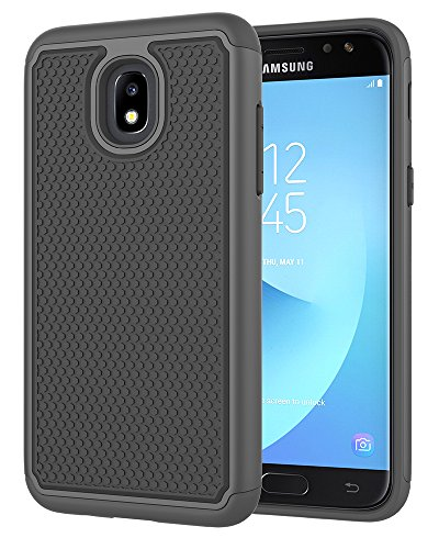 ASMART Galaxy J3 2018 Case,Galaxy J3 Star Case,J3 Achieve Case,Galaxy Express/Amp Prime 3 Case,Galaxy J3 V 3rd Gen/J3 Orbit/J3 Aura/Sol 3 Case, Defender Cover Phone Case for Samsung Galaxy J3V,Black