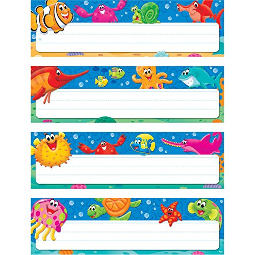 Trend Enterprises Sea Buddies Desk Name Plates, Set of 32]()