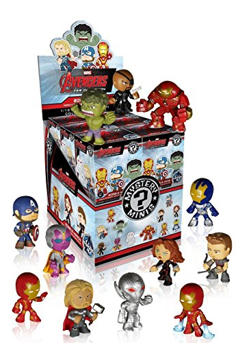 Funko Marvel Avengers 2 Age of Ultron Mystery Minis Vinyl Mini-Figure Display Box - Contains 12 Blind Box Figures ()