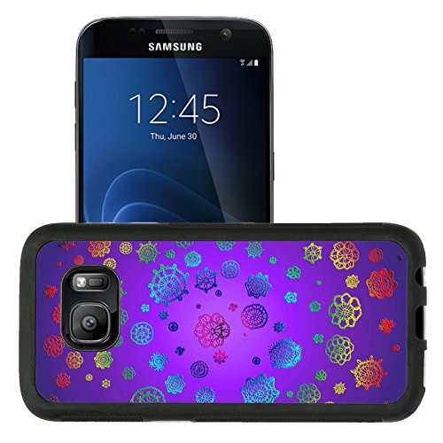 Liili Samsung Galaxy S7 Aluminum Backplate Bumper Snap Case retriver Photo 19682663 iPhone6 IMAGE ID: 12427364 Fantastic magic background with colors of crochet flowers swirling in purple space