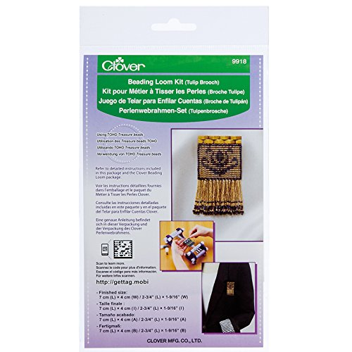 Clover 9918 Beading Loom Kit/Tulip Brooch CLOVER MFG. CO. LTD.