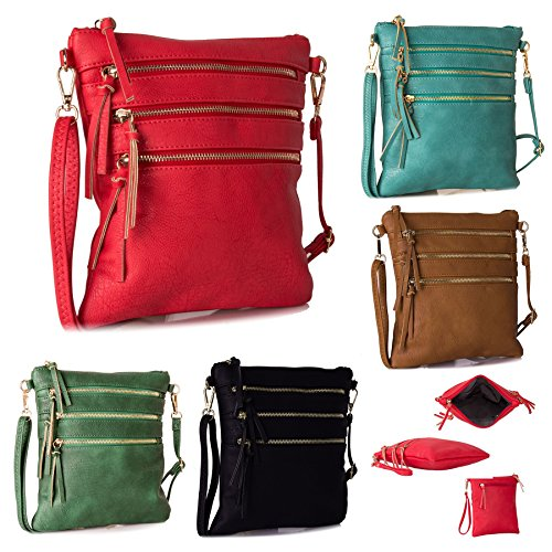 Big Handbag Shop - Bolso bandolera Mujer verde