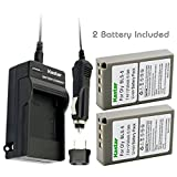 Kastar 2 X BLS-5 Battery and Charger Kit for Olympus BLS5 PS-BLS5 and Olympus E-PL1 E-PL2 E-PLE15 E-PM1 E-PM2 E-M10 OM-D E-400 E-410 E-420 E-450 E-600 E-620 E-P1 E-P2 E-P3 E-PL6 E-PL5 stylus 1 Cameras