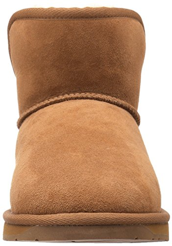 206 Collective Women's Bellevue Shearling Ankle Boot Chestnut Suede