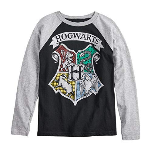 Harry Potter Hogwarts Crest Boys Girls Long Sleeve Shirt (S (8))