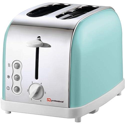 SQ Professional Legacy 900W 2 Slice Toaster, Mint Green