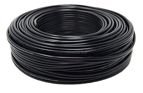 14 Gauge Speaker Wire 100 Feet Black Stranded 2 Conductor Ca