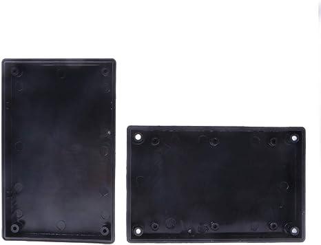 KINTRADE 125x80x32mm Bo/îte /étanche Noire Connecteur de bo/îtier dinstrument de Projet /électronique