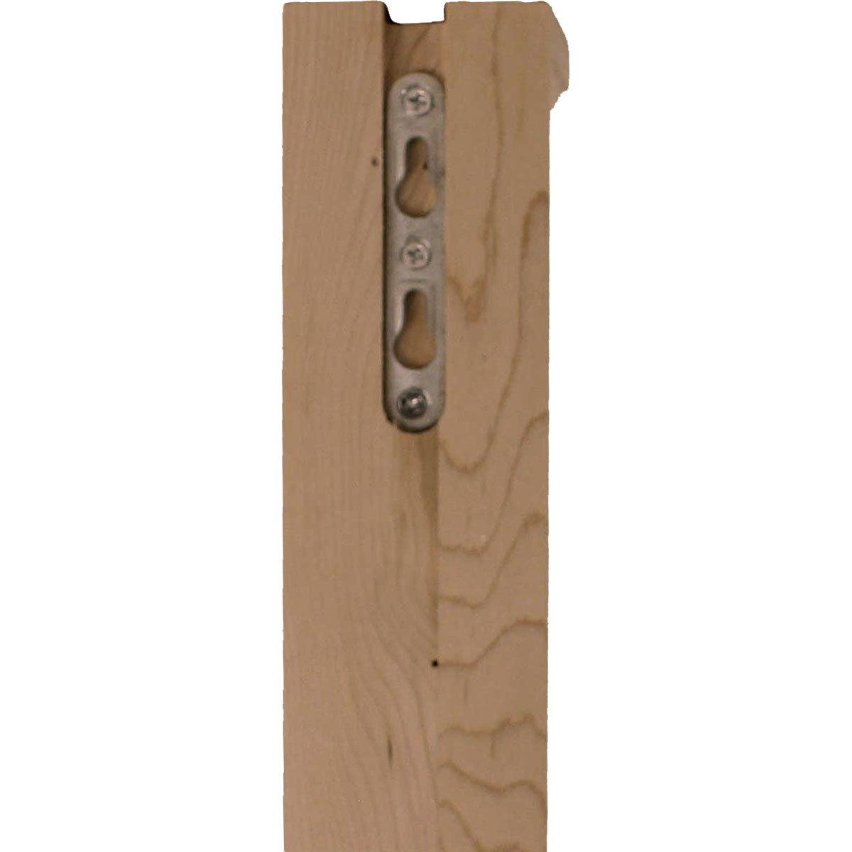 Red Oak Ekena Millwork BKT02X05X07HARO 2 1//4 W by 5 D by 7 H Hamilton Traditional Bracket