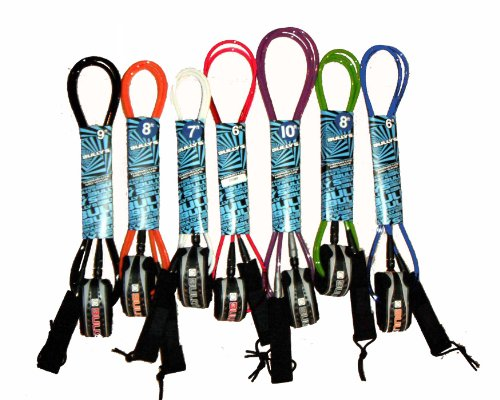 Bully's Thermo-lite 7' Surfboard Leash w/Key Pocket - Various Colors (Orange)