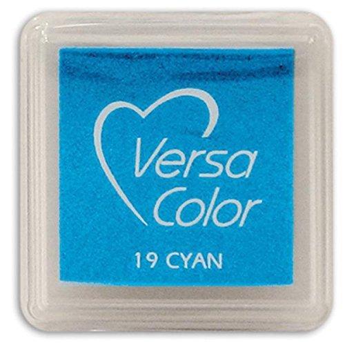 Tsukineko Small-Size VersaColor Ultimate Pigment Inkpad, Cyan