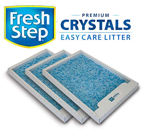 Fresh Step Crystals Tray Refills for Use with PetSafe ScoopFree Self-Cleaning Litter Box, 4.5 lbs of Premium Cat Litter in Each Tray, 3-Pack