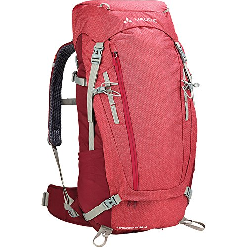 Mens Wings Xt (VAUDE Women's Asymmetric 38+8 Backpack - Lightweight Women's Touring Backpack for Multi-Day Hikes, Trekking and Backpacking - Adjustable Suspension System - 40-50 Litre Volume - Indian Red)