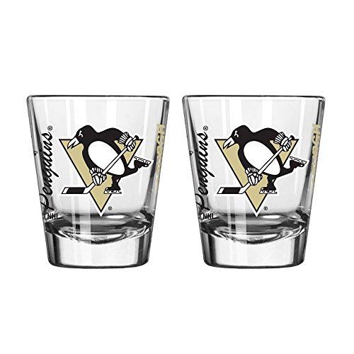 Boelter Brands NHL Pittsburgh Penguins Spirit Shot Glass, 2-Ounce, 2-Pack