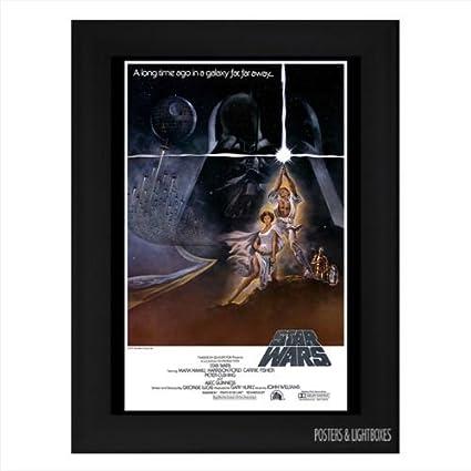 enmarcada de Star Wars: Una nueva esperanza Póster de la película A4 ...