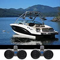 (2) Rockville DWB65B Dual 6.5 Black 600w Marine Wakeboard Tower Speaker Systems