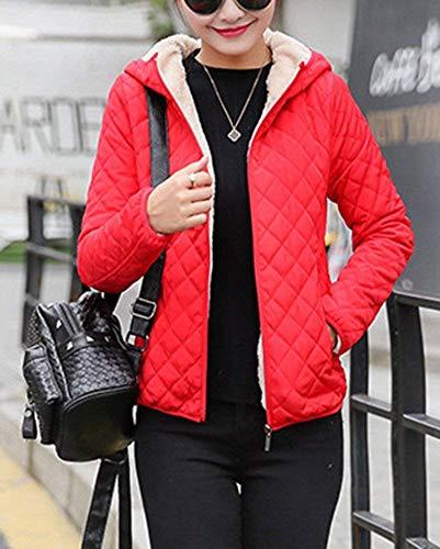 Zip Espesar Outdoor Acolchada Abrigos Chaqueta Fashion Outerwear Manga Mujer Invierno De Rot Temporada Capucha Con Cortos Suave Caliente Elegante Cómodo Encapuchado Retro Otoño Largo nwqqYdaZ