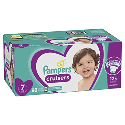 Diapers Size 7, 88 Count - Pampers Cruisers Disposable Baby Diapers, ONE MONTH SUPPLY (Packaging May Vary)