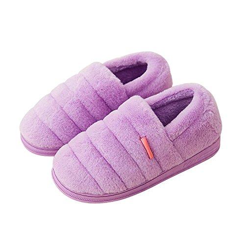 Cotone fankou pantofole femmina pacchetto completo con home caldo inverno pacchetto spesso seguita da uomini e ,35-36, Viola