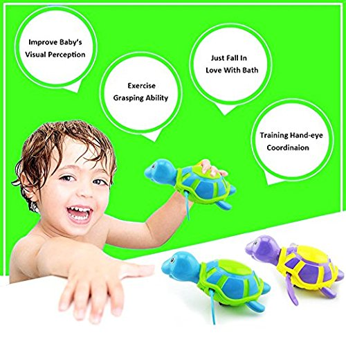 Amazon.com: 2 Pack Baby Bath Toys Clockwork Turtle For Toddlers Boys Girls,Wind up Water Toys Swimming Turtle Summer Pool Bathroom Float Toy Best Kids: Toys ...