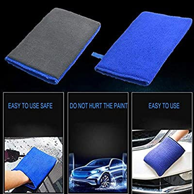 Exterior Care Car Mud Dust Mitt FOONEE Clean Nanoscale Washing Gloves Microfiber No Scratch Wash Decontamination Cloth Cleaning Wash Tools