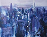 """""""The City"""" Original Oil Painting on Canvas"""